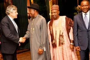 Jonathan Receives Former British Prime Minister