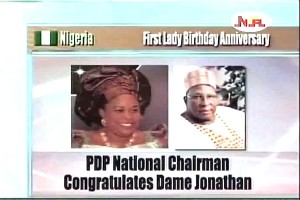 PDP Chairman Congratulates First  Lady