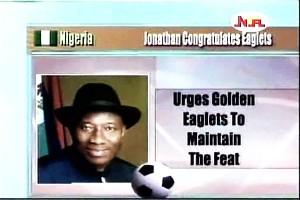 President Jonathan Congratulates  Eaglets