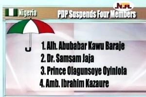 PDP NWC Suspends Four Members