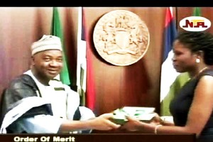 Jonathan Confers Order of Merit Award