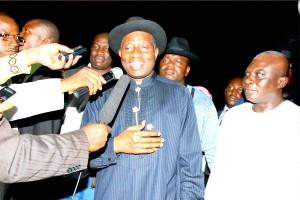 Jonathan Meets Nigerians in Diaspora