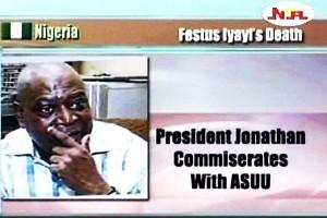 President Jonathan Condoles on Iyayi