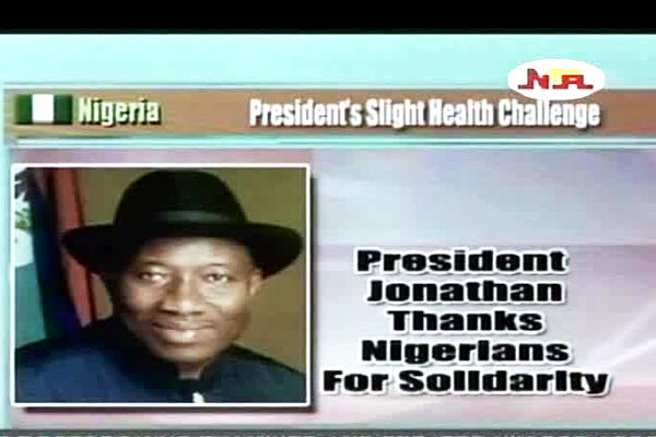 Jonathan Thanks Nigerians