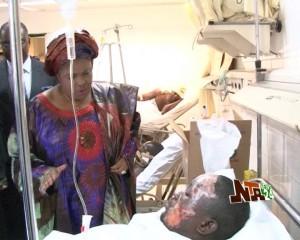 First Lady Visits Nyanya Bomb Victims