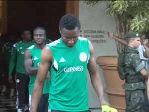 Brazilian Fans Cheer as Nigerian Super Eagles Train