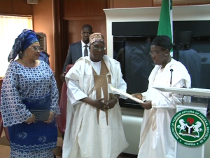 Bamanga Tukur Gets Letter Of Credence As An Ambassador At-Large