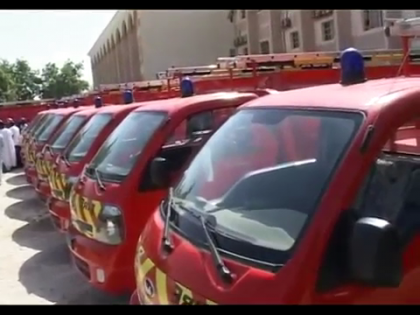 Yobe State Government Distributes Fire Fighter Vehicles to LGs