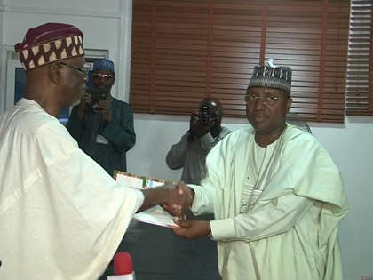 APC presents Certificate To Candidate In The Adamawa Gubernatorial Election