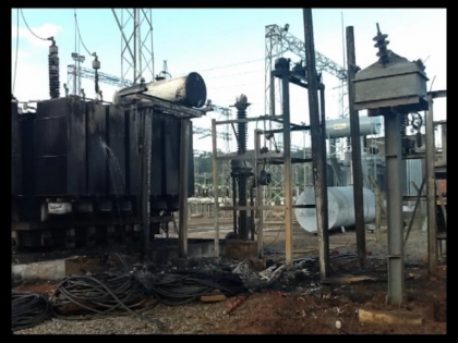 Lightening Destroys Apo Transformer In Abuja