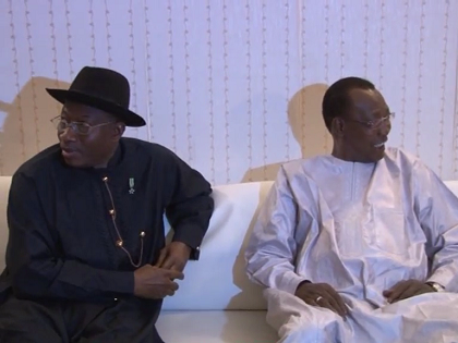President Jonathan has held talks with Chadian Counterpart on Boko Haram Insurgency