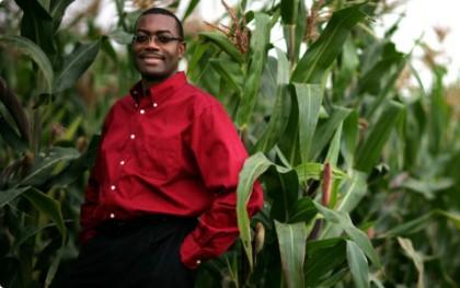 Akinwumi Adesina, Honourable Minister of Agriculture of Nigeria  on a farm