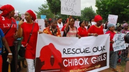 Campaigners for the release of abducted Chibok Schoolgirls in Abuja