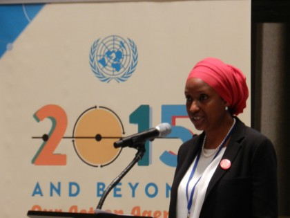 Hadiza Bala Usman at  UN Convention on Justice, Peace, and Integrity of Creation (JPIC)