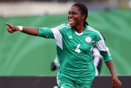 Newly Crowned African Footballer of the Year and Sports Ambassador of Lagos, Asisat Oshoala