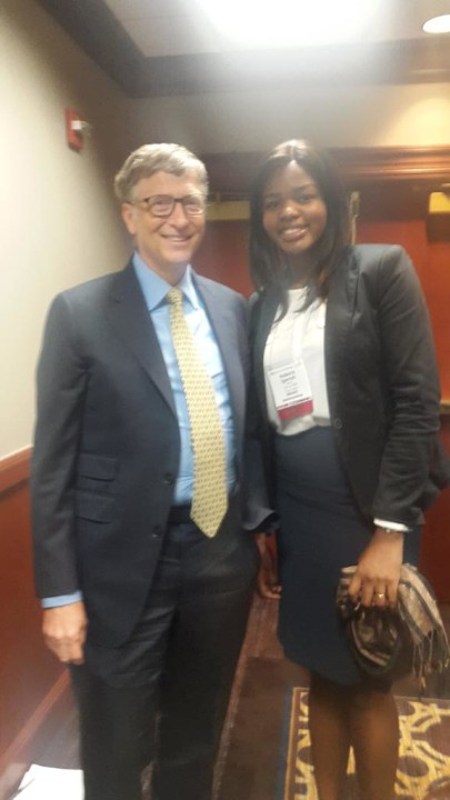 Dr Ada Igonoh with Bill Gates At the 63rd annual meeting of American Society of Tropical Medicine and Hygiene (Photo: @AdaIgonoh)