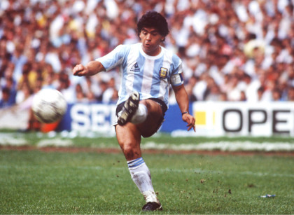 FUSSBALL : WM 1986 in MEXIKO , Mexiko City , 25.06.86 ARGENTINIEN - BELGIEN ( ARG - BEL ) 2:0 Diego MARADONA / ARG FOTO:BONGARTS *** Local Caption *** Diego Maradona