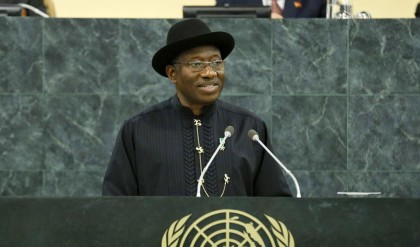 Presidential Jonathan at a Presentation at the UN Security Council in August 2014
