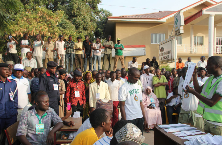 Voters at a Polling Unit at the 2011 General Election