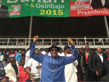 Buhari at Flag Off Campaign in Hort Harcourt Yesterday
