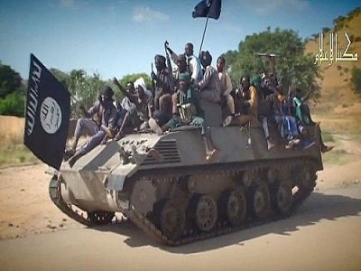 Boko Haram unit on a tank in Northeastern Nigeria (Photo: internet)