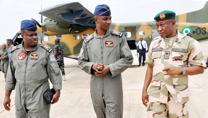 Gen Chris Olukolade with Nigerian Troops in Yola