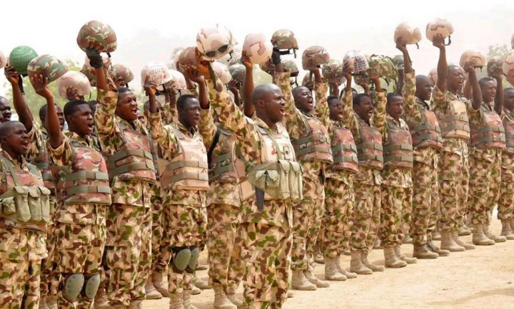 Nigerian troops on the Front-lines against the insurgents in the North-East