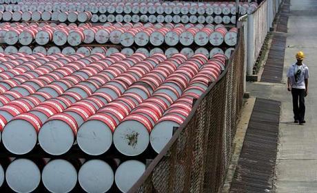 Crude oil Barrel at a Storage Facility, Nigeria(PHOTO: EnergyMixReport)