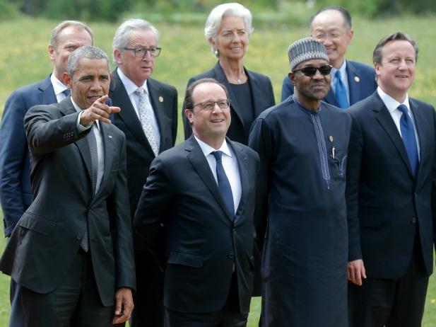 President Buhari at the G7 summit at the Elmau castle in Kruen near Garmisch-Partenkirchen, Germany, June 8, 2015. (Reuters/Christian Hartmann)