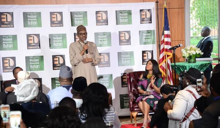 President Buhari's meeting with Nigerian in USA