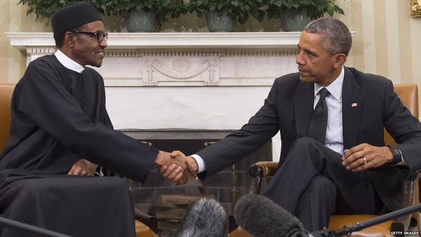 US President, Obama and Nigeria President, Buhari