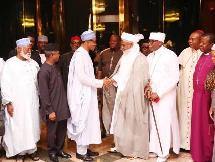 National Peace Committee Meets President Buhari