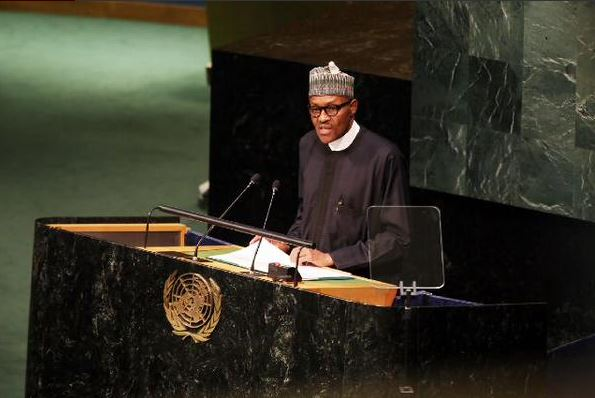 President Buhari Delivering Speech  at United Nation General Meeting in New York