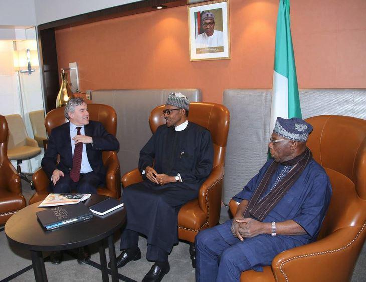 Buhari, Obasanjo meetings with Brown in New York