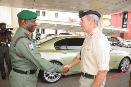 British-Chief-of-Defence-Staff-General-Sir-Nicholas-Houghton-being-welcomed-by-the-Nigerian-General-Gabriel-Olonisakin