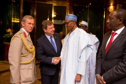 President Buhari Welcomes UK Defense Chief
