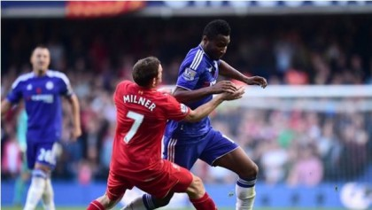 Mikel giving it everything against Liverpool