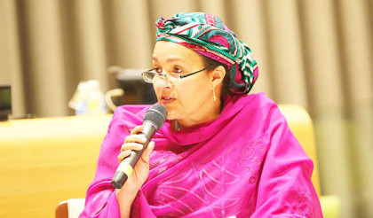 Amina Mohammed, Minister for Environment, Federal Republic of Nigeria