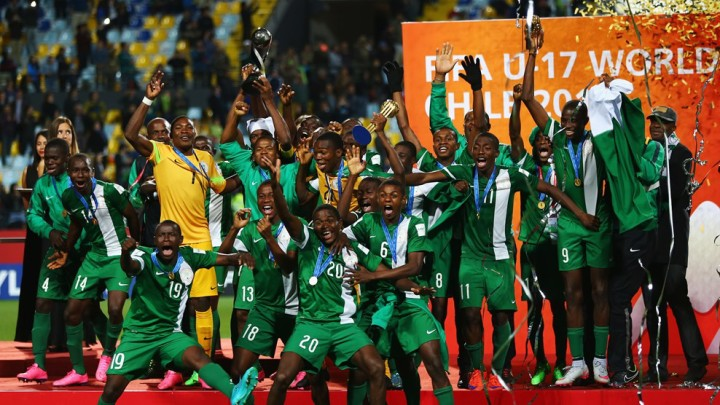 Golden Eaglets of Nigeria FIFA Under 17 World Cup Champions 2015 (Photo: FIFA)