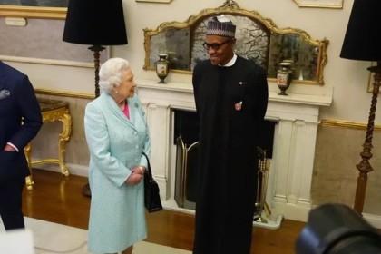 Queen Elizerbeth II And Nigeria's President Muhammadu Buhari