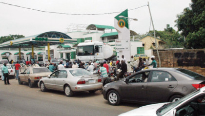 Queue At NNPC Mega Station