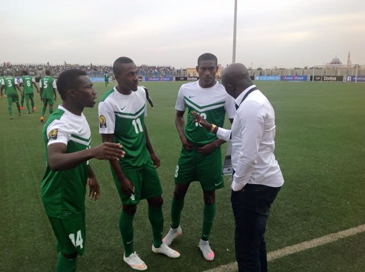 Coach Samson Siasia and some of the U-23 Dream Team VI Members (Photo: Internet)