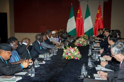 President Buhari and China's President Xi Jinping and Delegates At The Side Meeting