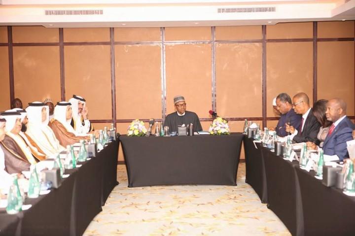 President M. Buhari meeting with Qatari Businessmen
