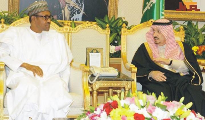 President Buhari with King Salman Bin AbdulAziz Al Saud