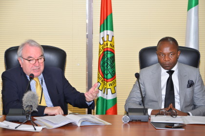 Dr. Ibe Kachikwu with the Vice Minister for Economic Affairs & Energy, Mr. Uwe Beckmeyer