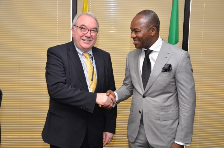 Mr. Uwe Beckmeyer with Dr. Ibe Kachikwu