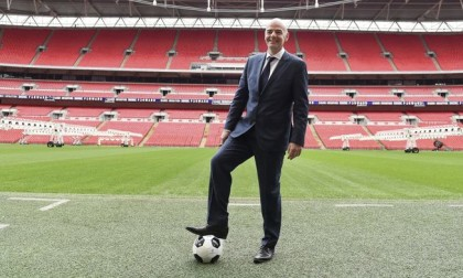 Gianni Infantino chose Wembley to present their electoral platform (Andy Rain / Efe)