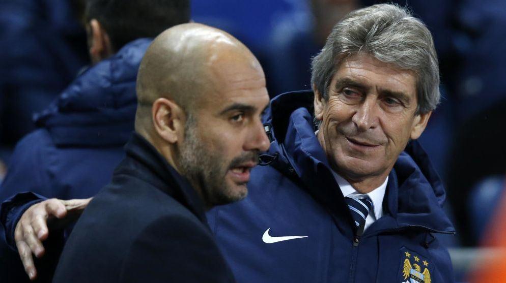 Guardiola will replace Pellegrini at Etihad. (AP)