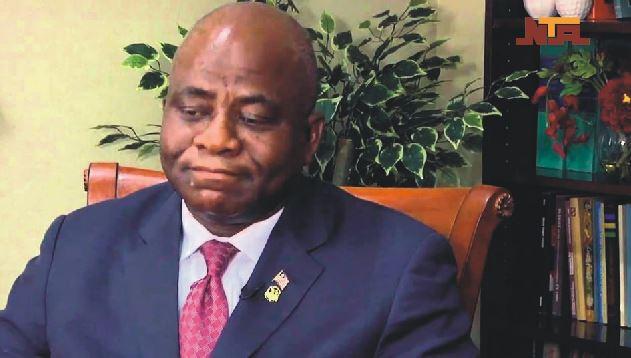 The Minister of National Defence of Liberia, Honourable Brownie J Samukai Jr